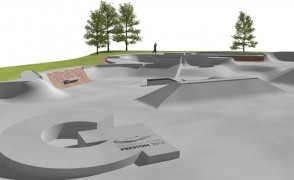 Artist impression of the Moor Park skate park