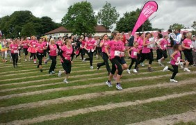 And they are off: Gordon Jackson snapped this photo of the runners on their way round the park