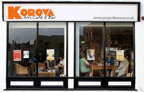 A view of the Korova Arts Cafe