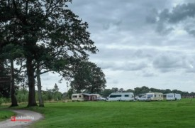 A view of the caravans parked up on Ashton Park