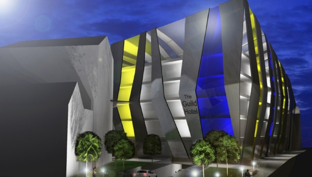Another view of the hotel design