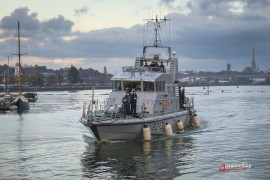 HMS Charger at Preston Dock when it visited in November