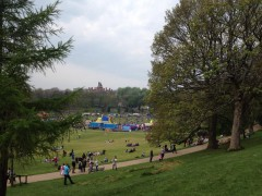 View across Avenham Park with the crowds. Pic by Preston To Places.