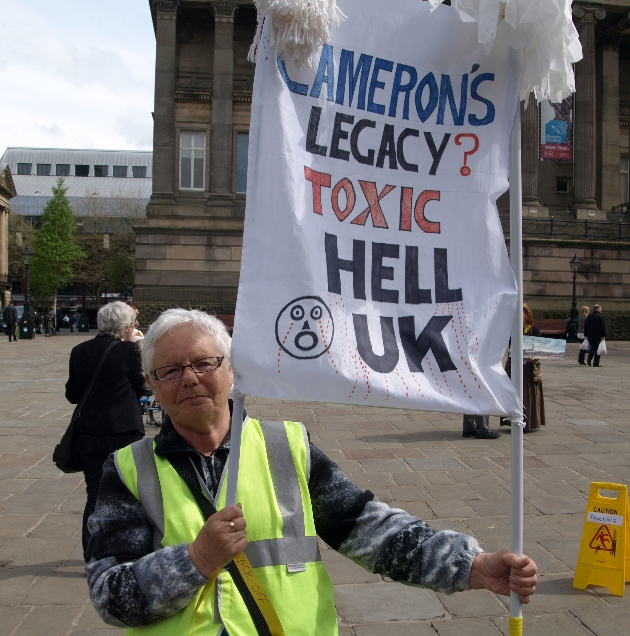 Anti-fracking protests in Preston in April 2014