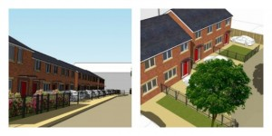 Artists impressions showing the new homes for the Mulbury site