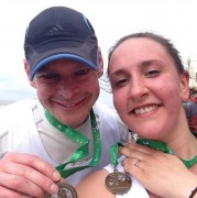 Ben completing a 10 with his wife Louise