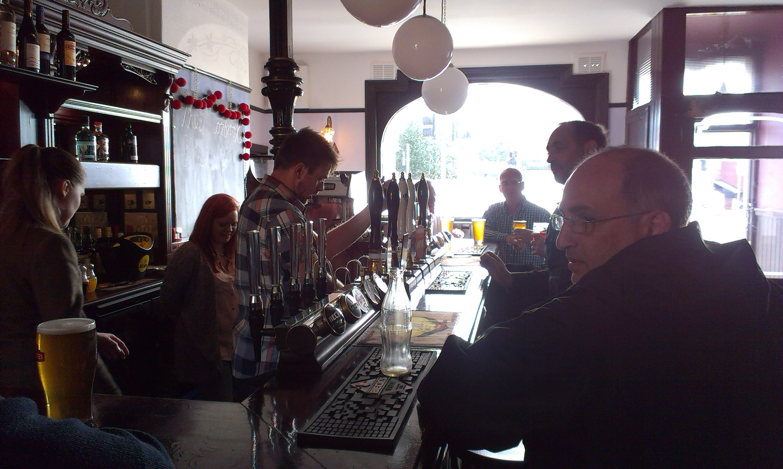 Richard Fisher-Godwin, one of the Moorbrook owners, behind the bar