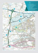 Route of the proposed link road © Crown copyright. Lancashire County Council. Licence No. 100023320 2004