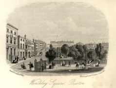 Drawing of Winckley Square, Preston