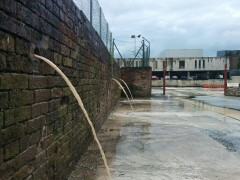 Michael Holdsworth snapped the County Hall drains overflowing onto the car park