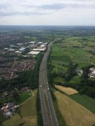 Junction 31a of the M6 and the Red Scar industrial estate