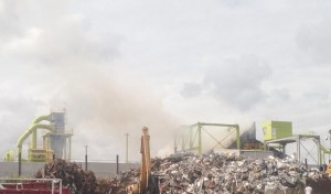 Rowan Scrap Metals tweeted this picture of smoke at the Recycling Lives facility