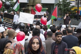 Preston, Lancashire, UK, 12 Jul 2014: Hundreds attend peaceful F