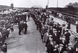 Preston Pals at Preston Railway Station, September 1914