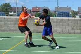 Action from the korfball tournament