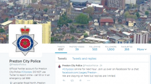Twitter account of Preston Police