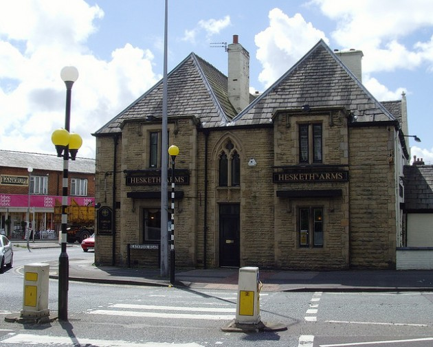 The collision is said to have happened close to the Hesketh Arms pub