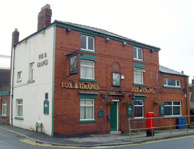 Fox and Grapes pub on Ribbleton Lane