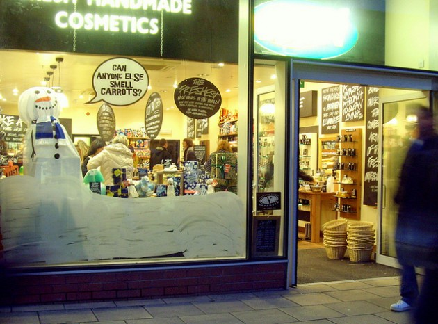 Lush is one of the stores competing in the shop window competition