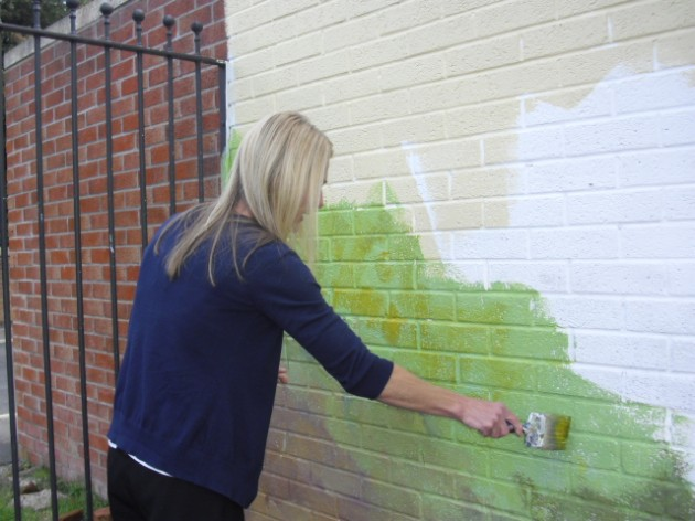 The mural taking shape