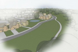 Artist impression of the Ingol development