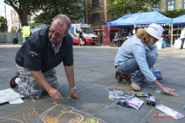 Preston's first 'Art Flash-Mob'