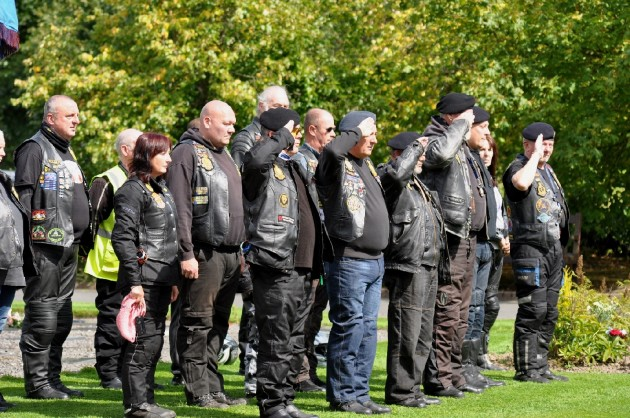 Royal British Legion Bikers pay their respects