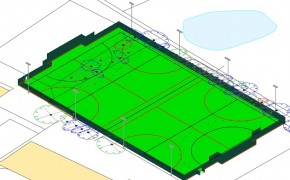 Broughton College's proposed pitch layout