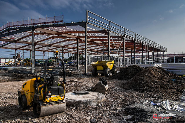 Work at the Deepdale site