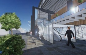 How the proposed escalators outside the Guild Hall would look