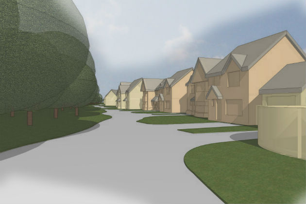 Artist impression of how the new housing development would look
