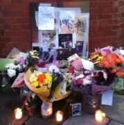 Flowers and tributes left to Jonjo