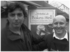 Novelli dropped by stalls on the market to have a taste
