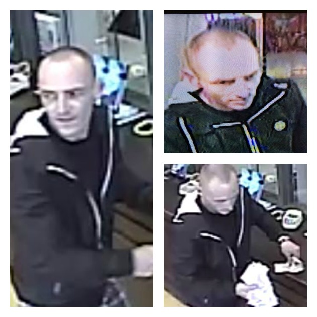 Pictures of Peter James Thomas who police believe has committed a number of robberies
