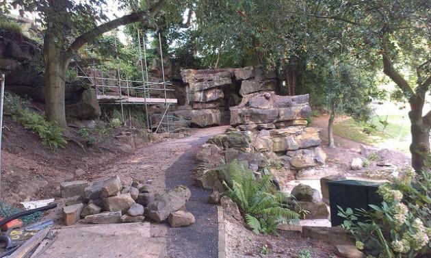 Restoration on the Miller Park grotto