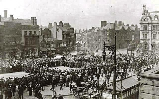 Preston Pals on the Flag Market in 1914