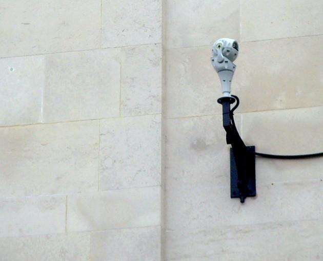 A CCTV system in Preston city centre