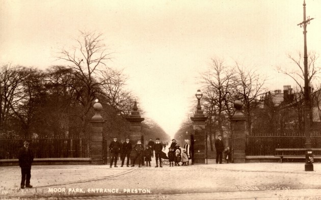 Moor Park - Gates, Garstang Road Entrance 1911