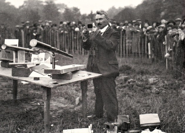 Moor Park Observatory in1927 The custodian of the observatory Mr. George James Gibbs