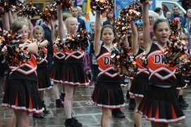 Cheerleaders form Dance With Passion