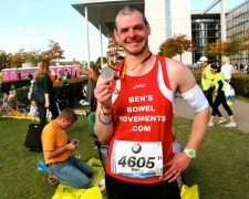 Ben Ashworth with his Berlin Marathon medal