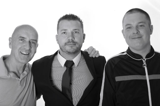 Paul Taylor of Retro, Dave Brown, Cameo & Vinyl's general manager, and Mark Freejack of Rock FM