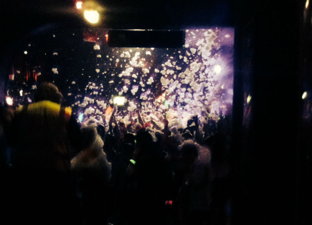 Foam party at Mokai during opening week