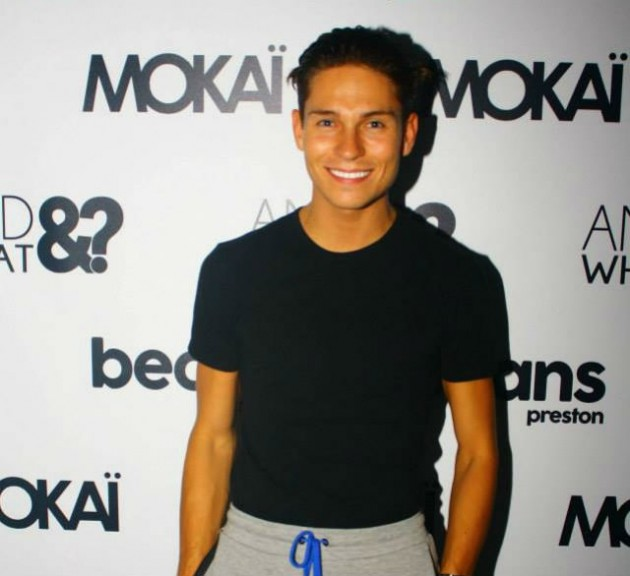 Joey Essex at the opening night of Mokai