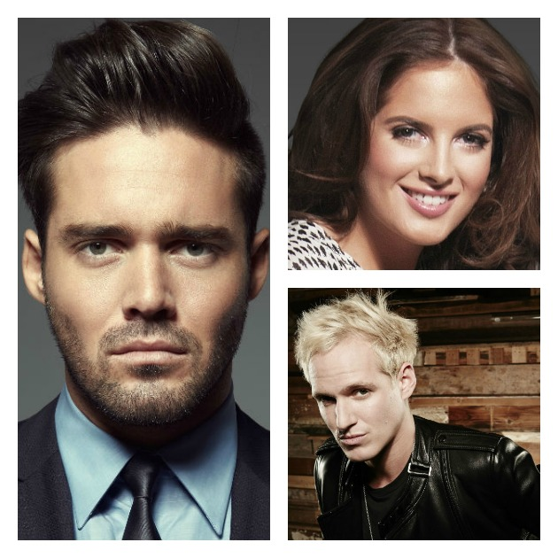 From left-right clockwise: Spencer Matthews, Binky Felstead and Jamie Laing