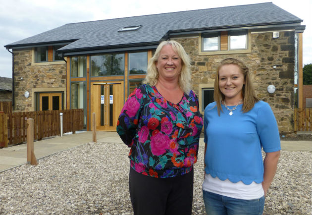 Joanne Copeland and Issy Hayes at The Mill in the hospice grounds