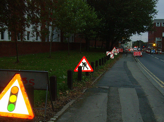 Expect to see plenty of temporary traffic lights during roadworks