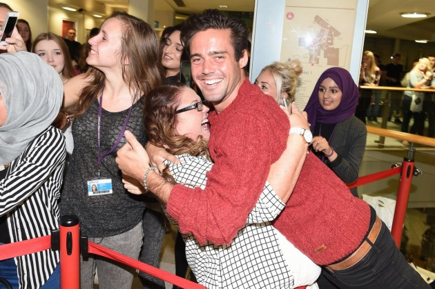 One highly excited student meets Spencer Matthews