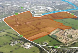 Area known as the Cuerden site earmarked for development