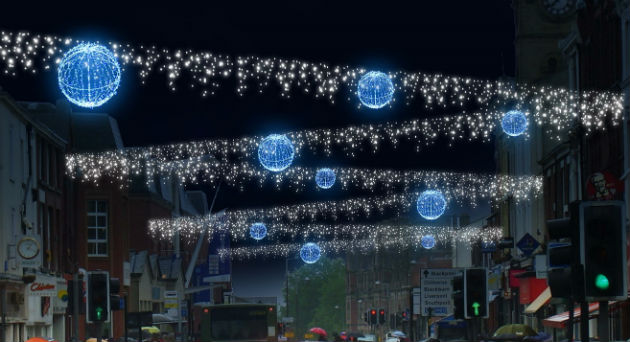 An artists impression showing the Christmas lights down Fishergate & Preston Christmas Lights Switch On 2014: Line up confirmed ... azcodes.com